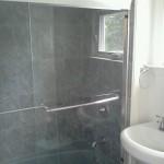 Shower Retiling with Glass Door